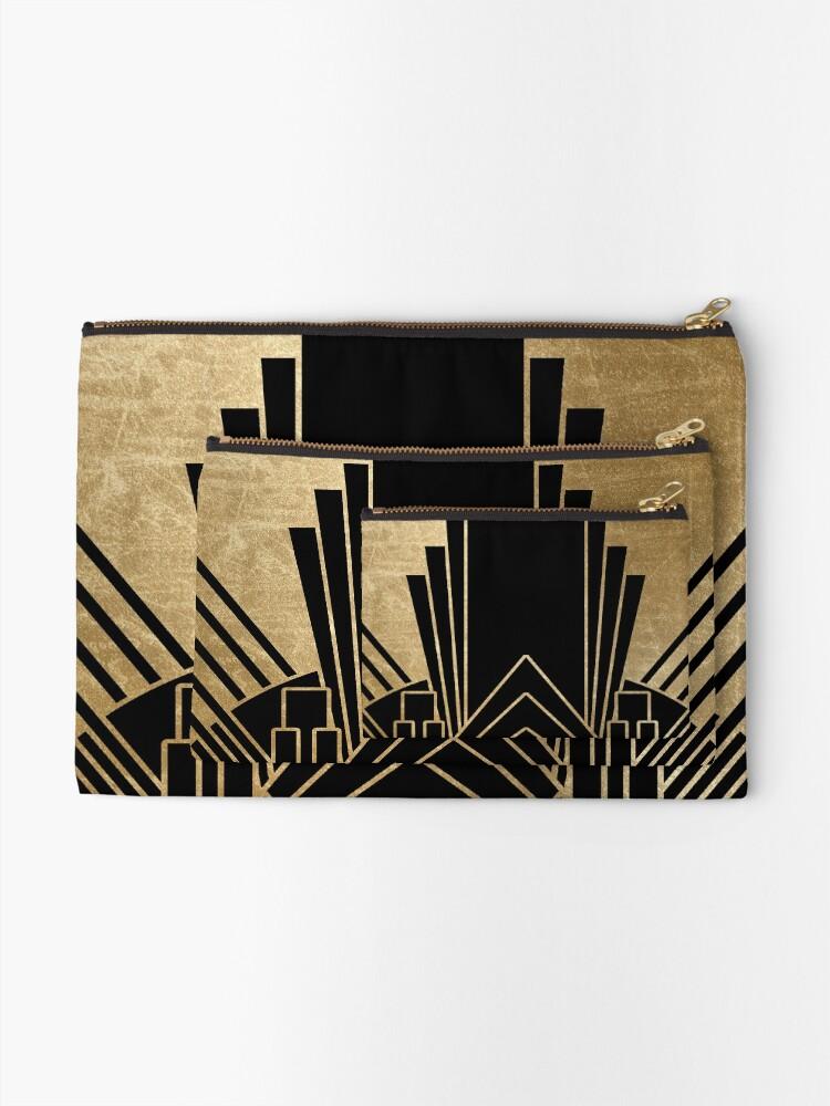 Alternate view of Art deco design Zipper Pouch