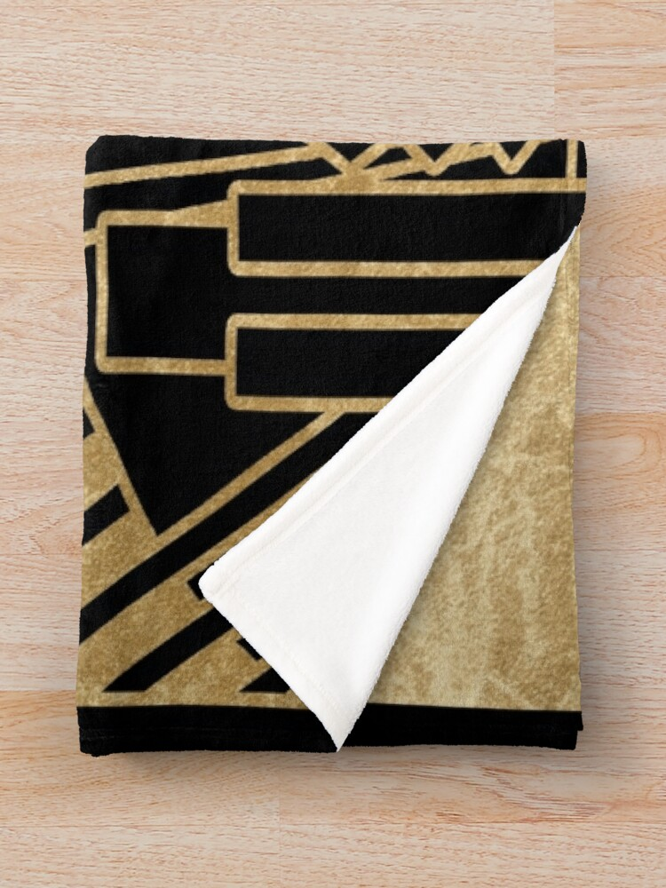 Alternate view of Art deco design Throw Blanket