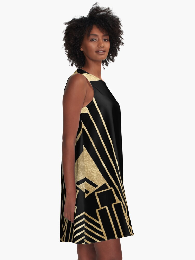 Alternative Ansicht von Art-Deco-Design A-Linien Kleid
