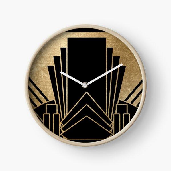 lámina de oro falso en negro llamativo. Reloj