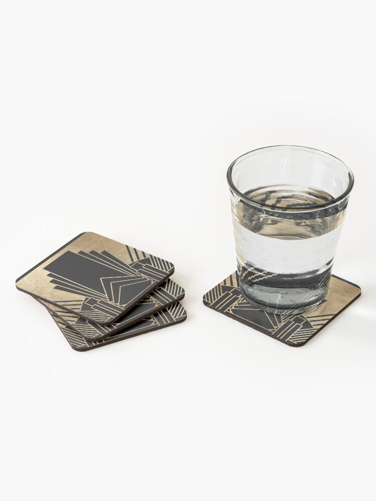 Alternate view of Art deco design Coasters (Set of 4)