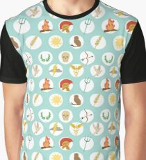 Greek Gods Mythology Repeat Pattern - Percy Jackson Inspired Graphic T-Shirt