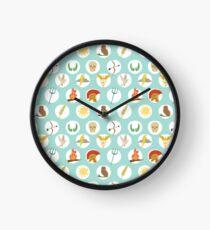 Greek Gods Mythology Repeat Pattern - Percy Jackson Inspired Clock