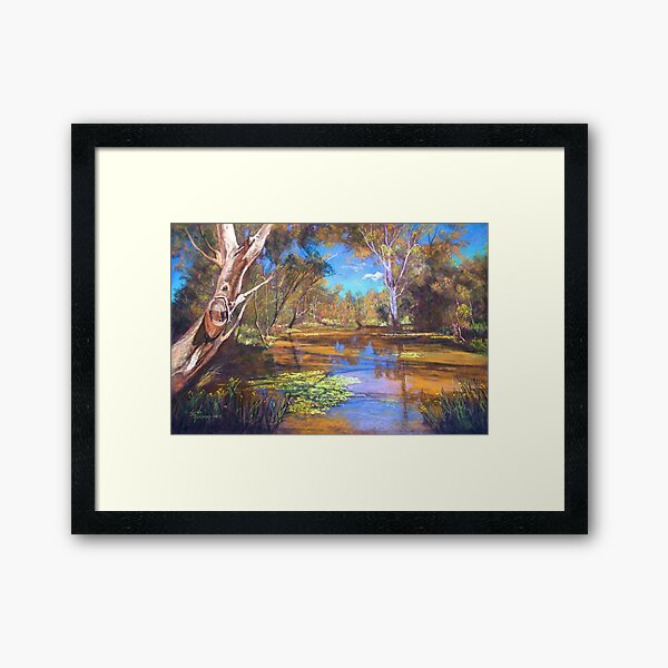 'Tahbilk Wetlands' Framed Art Print
