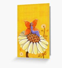Singing Camomile Fairy Greeting Card