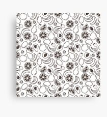 Fruits background. Food pattern. Canvas Print