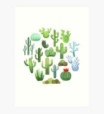 Watercolor Cactus Kunstdruck