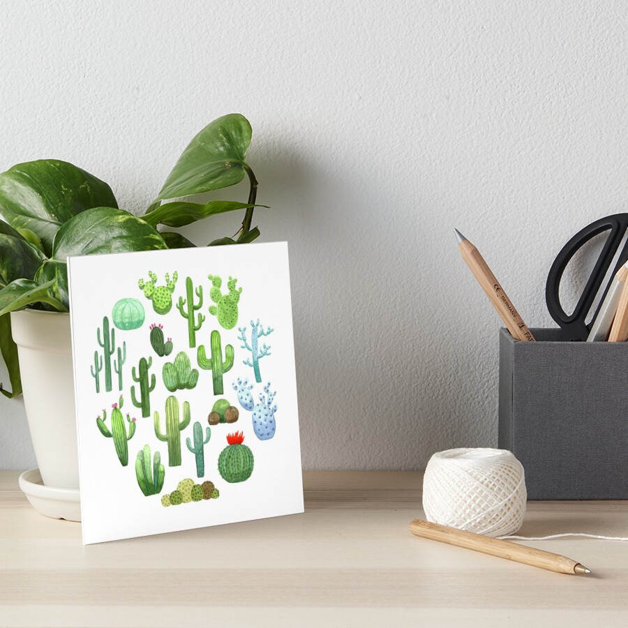 Watercolor Cactus by skrich