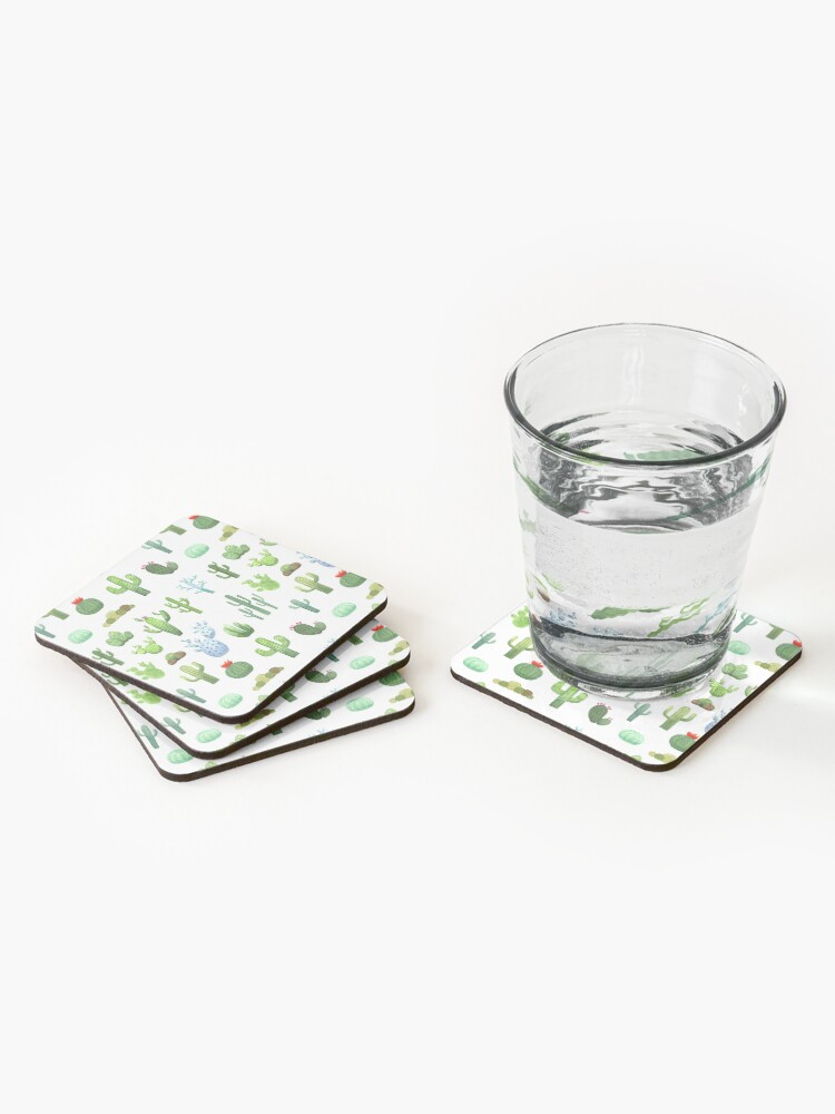 Alternate view of Watercolor Cactus Coasters (Set of 4)