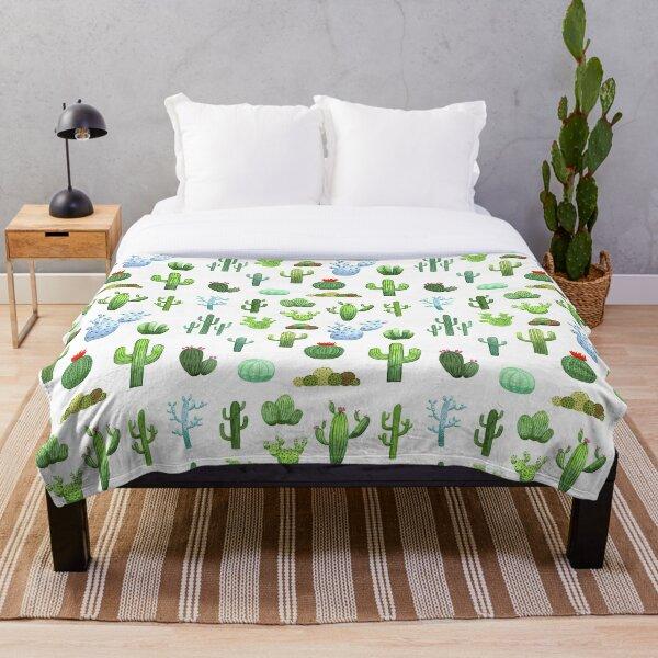 Watercolor Cactus Fleecedecke