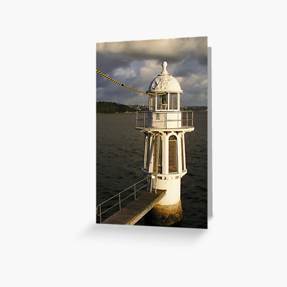 Lighthouse off Cremorne Point Greeting Card