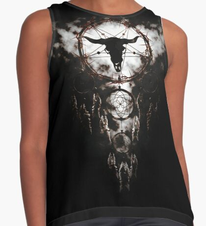 Summoning circle pentagram - Dreamcatcher Contrast Tank