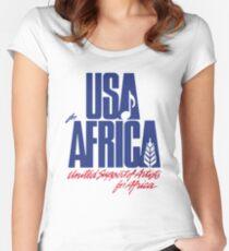 Wir sind die Welt Tailliertes Rundhals-Shirt