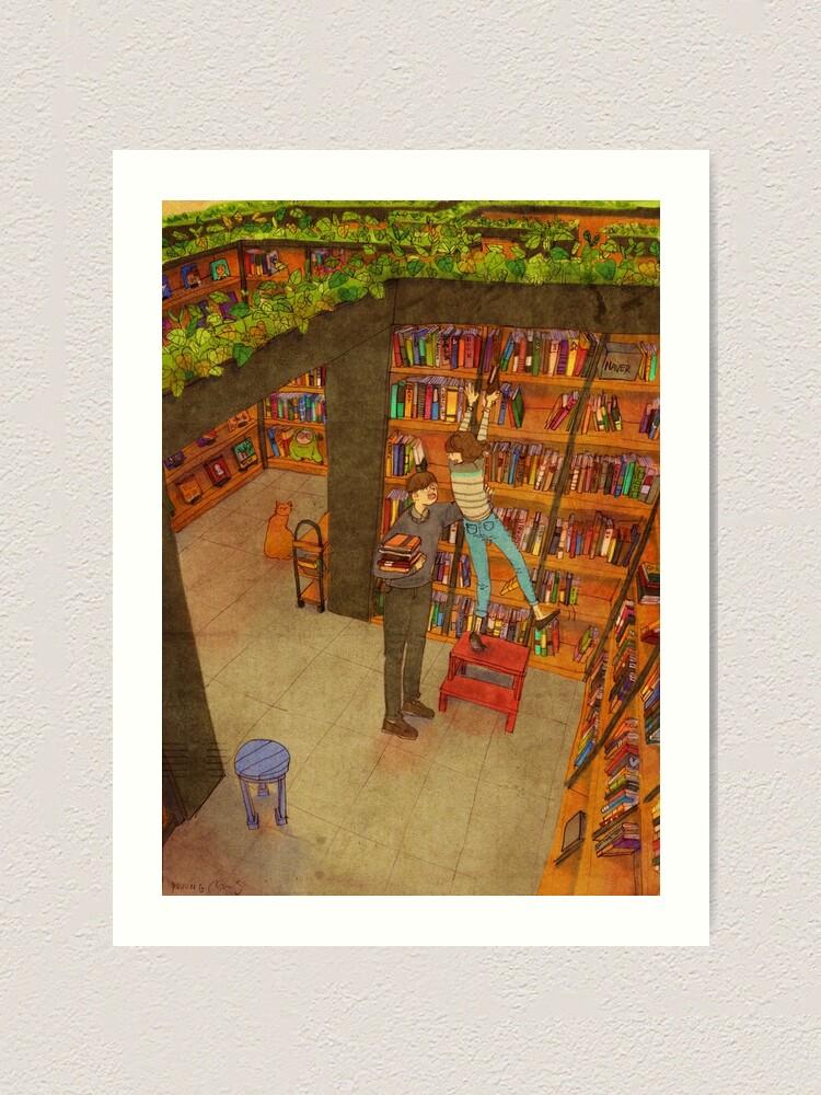 Alternate view of Library Art Print