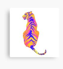 Retro color Animals Canvas Print
