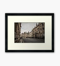 The Streets of Oxford Framed Print