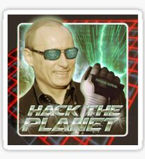Putin HACK THE PLANET Sticker Sticker