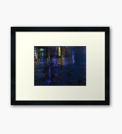 Christmas Lights on Ice Framed Print