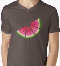Melons T-Shirt mit V-Ausschnitt