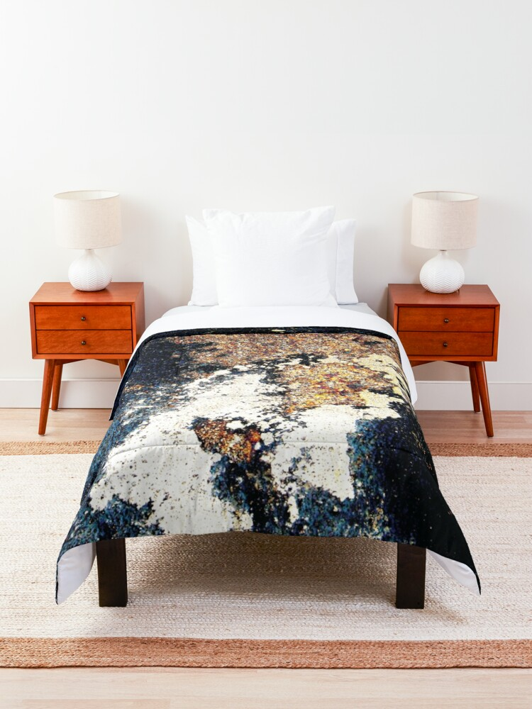 Alternate view of Map of an alien planet abstract Comforter