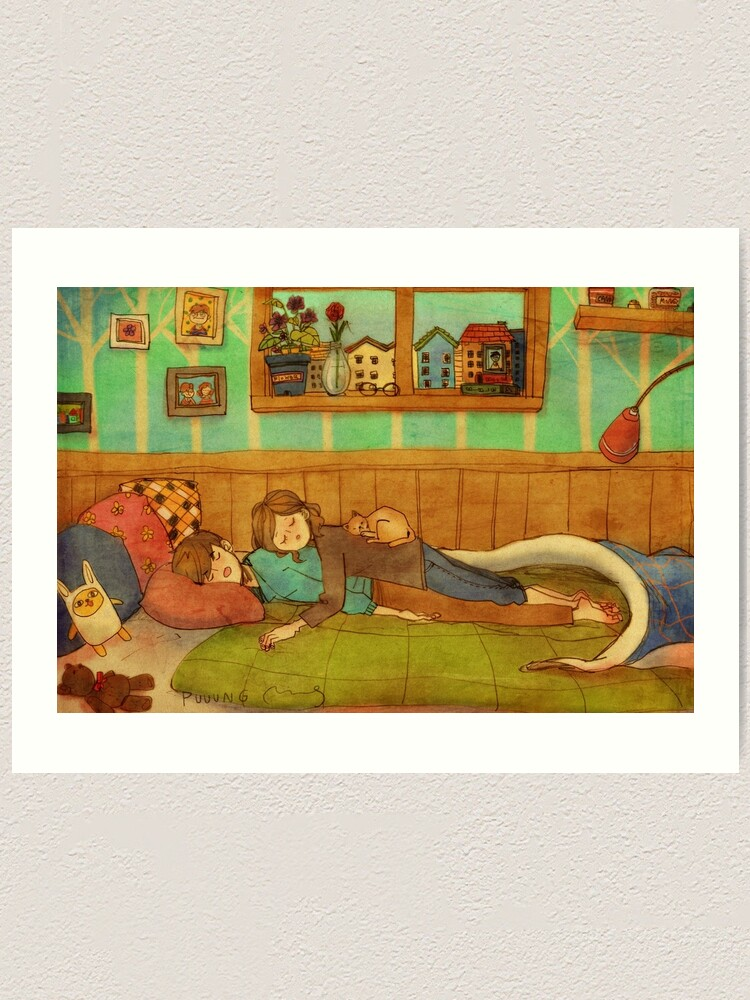 Alternate view of Soft and cozy Art Print