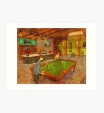 Playing pool Art Print