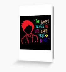 QUOTE OF ED SHEERAN Greeting Card