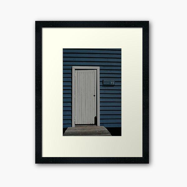 Crawley Edge Boatshed, Perth Framed Art Print