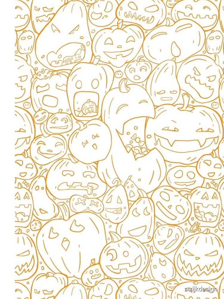 Halloween pumpkin line pattern by strijkdesign