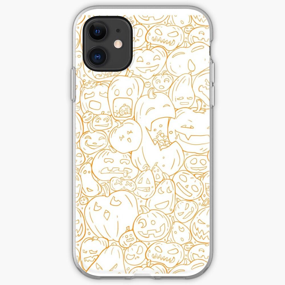 Halloween pumpkin line pattern iPhone Case & Cover