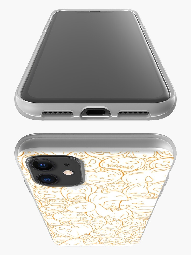Alternate view of Halloween pumpkin line pattern iPhone Case & Cover