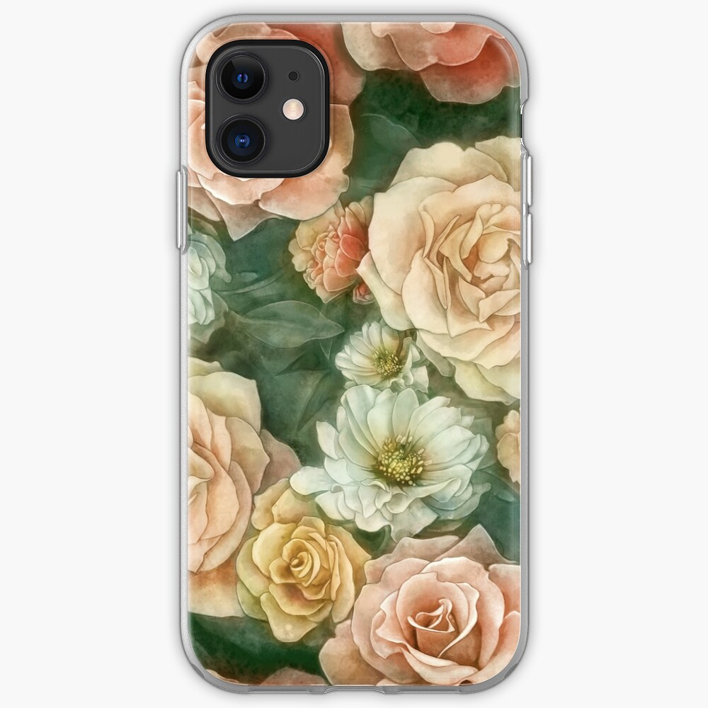 Rose floral pattern iPhone Case & Cover