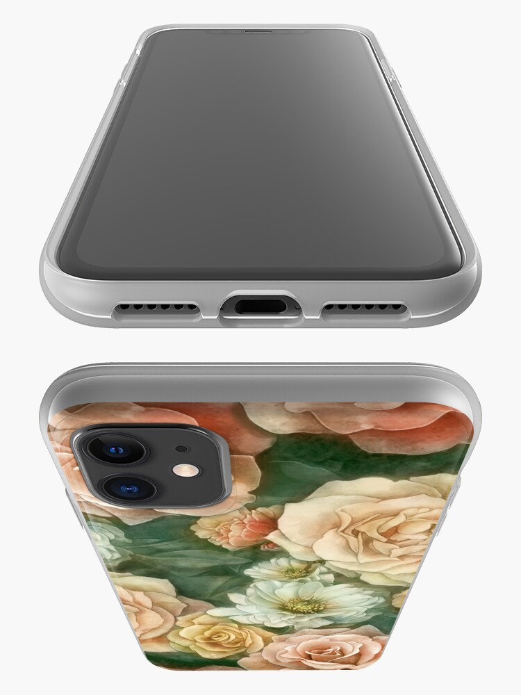 Alternate view of Rose floral pattern iPhone Case & Cover