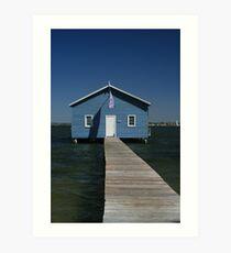 Crawley Edge Boatshed, Perth Art Print