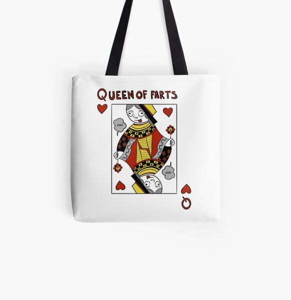 Queen of Farts All Over Print Tote Bag