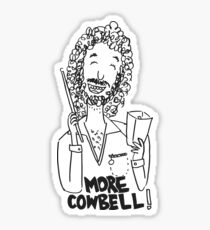More cowbell - black image Sticker