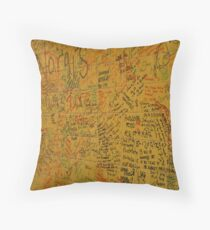 Cafe Wall in Little India, Singapore Throw Pillow
