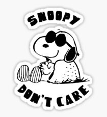 Snoopy don't care Sticker