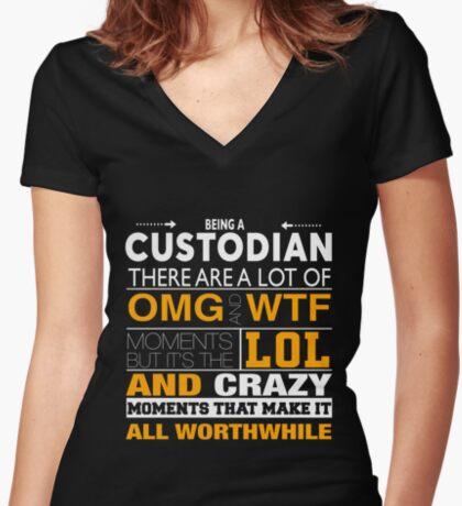 88fd3f5a3 Keep Calm Custodian Funny Tee shirt