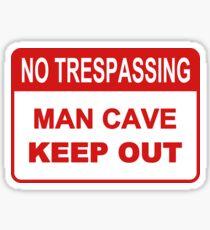 Man Cave Sticker