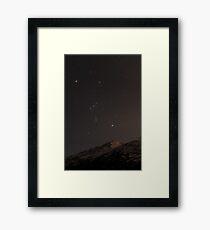 Orion über Eklutna Gerahmtes Wandbild