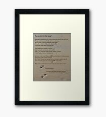 Foot Prints In The Sand Framed Print