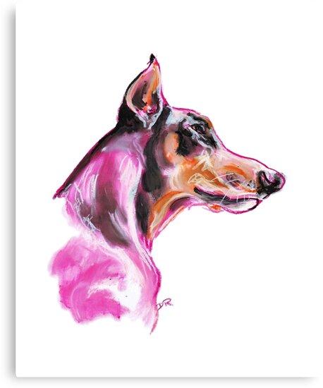 Doberman à la Pink by Douglas Rickard