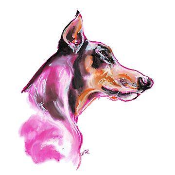 Doberman à la Pink by douglasrickard