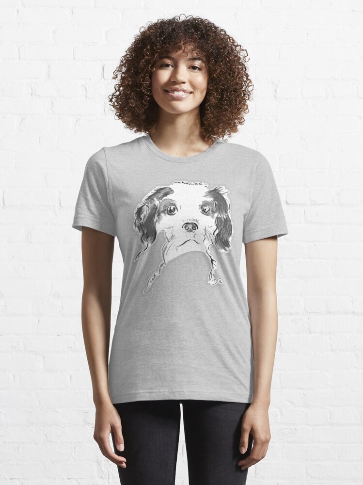 Alternate view of Cavalier King Charles Spaniel Puppy Drawing Essential T-Shirt