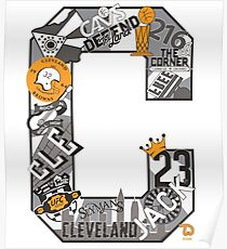 """Cleveland Themed Letter """"C"""" Poster"""