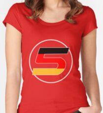 Sebastian Vettel Number 5 German Women's Fitted Scoop T-Shirt