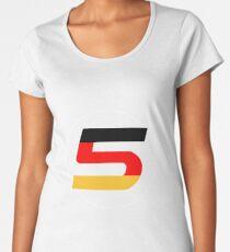 Sebastian Vettel Number 5 German Women's Premium T-Shirt