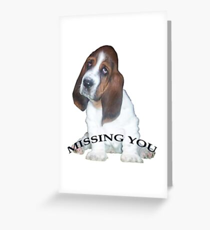 Missing You, from Barney Greeting Card