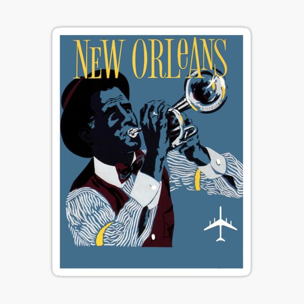Mid-Century Jazz Trio Bubble-free stickers